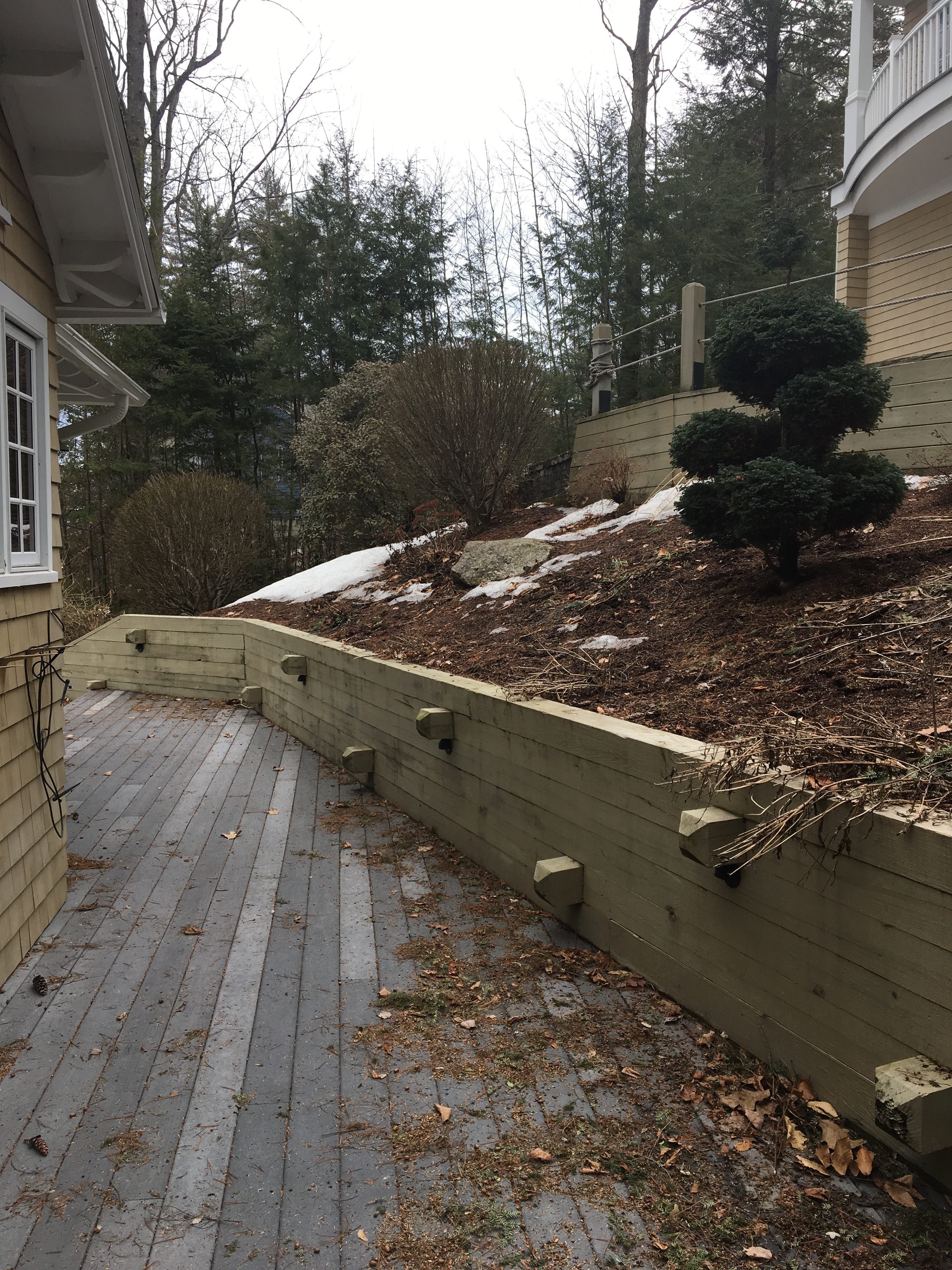 Before Stone Wall, Steps, and Garden