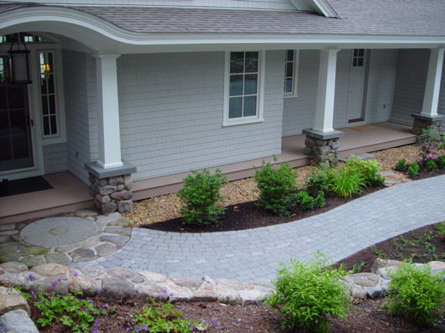 Mulch and Stone in the Landscaping